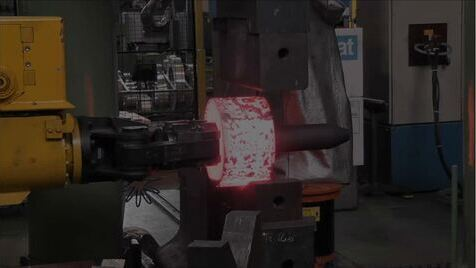 Forging of a hollow shaft