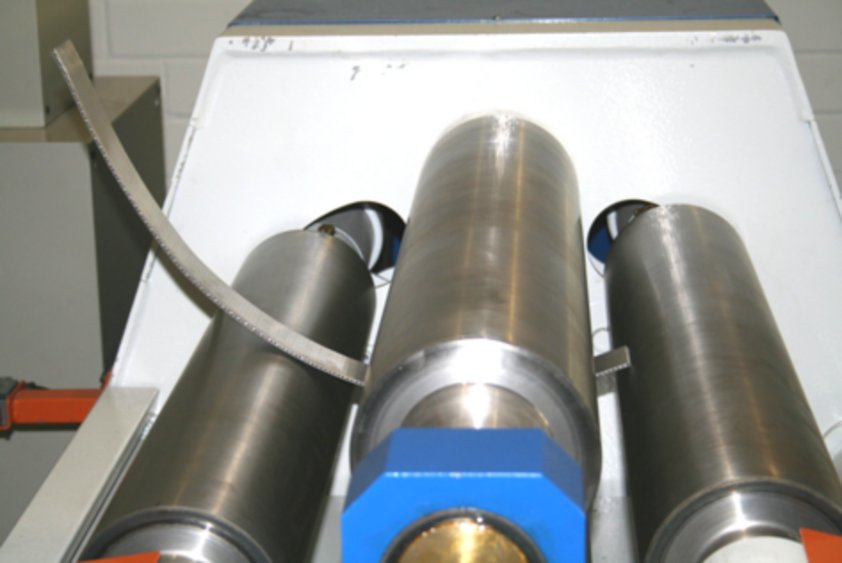 The HDTS 800X8 Hydraulic Four-Roll Bending Machine made by OMCCA